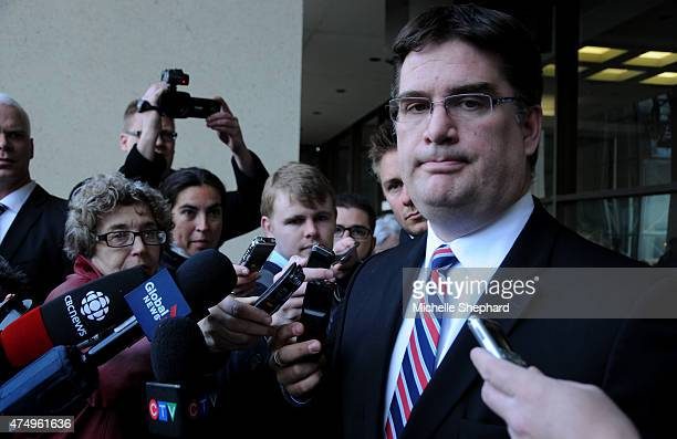 Nathan Whitling outside of the courthouse on May 7 shortly after learning his longtime client Omar Khadr is freed on bail