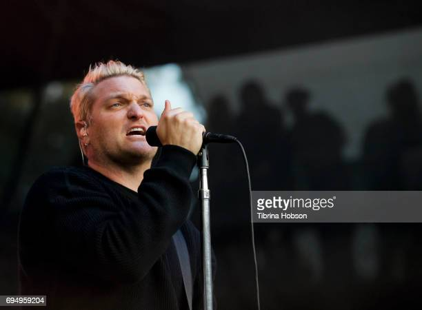 Nathan Willett of Cold War Kids performs at the LIVE 105 BFD 2017 at Shoreline Amphitheatre on June 10 2017 in Mountain View California