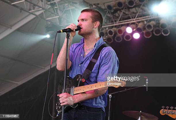 Nathan Willett of Cold War Kids performs on stage during Bonnaroo 2011 at This Tent on June 12 2011 in Manchester Tennessee