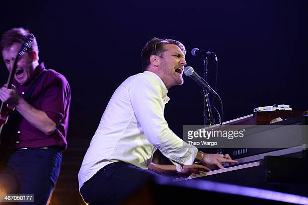 Nathan Willett of Cold War Kids performs onstage at the Amnesty International Concert presented by the CBGB Festival at Barclays Center on February 5...
