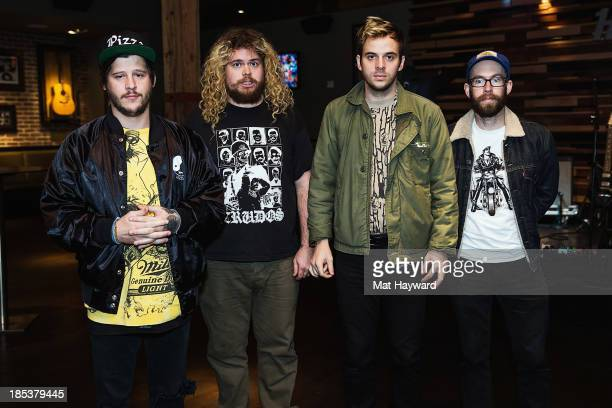 Nathan Williams Stephen Pope Alex Gates and Brian Hill of Wavves pose for a photo before performing an EndSession hosted by 1077 The End at the Hard...