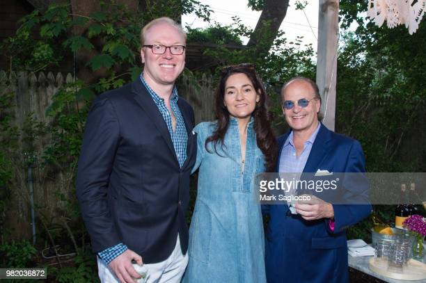Nathan Wold Jill Brienza and Tom Samet attend Homepolish x Hamptons Magazine VIP Dinner With James Peyton at Salt Drift Farm on June 22 2018 in...