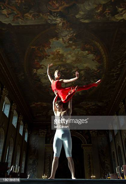 Nathan Young and Ruth Brill of the English National Ballet launch Dance GB at the Royal Naval College in Greenwich at the Old Royal Naval College on...