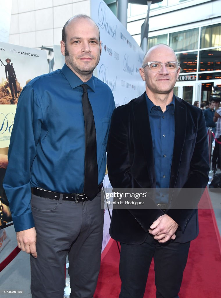 Nathan Zellner and David Zellner attend the premiere of Magnolia Pictures' 'Damsel' at ArcLight Hollywood on June 13, 2018 in Hollywood, California.