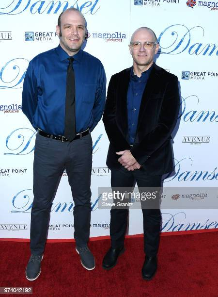 Nathan Zellner David Zellner arrives at the Magnolia Pictures' 'Damsel' Premiere at ArcLight Hollywood on June 13 2018 in Hollywood California