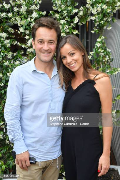 Nathanael de Rincquesen and Caroline Malet attend the 2018 French Open Day Four at Roland Garros on May 30 2018 in Paris France