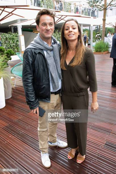 Nathanael de Rincquesen and Caroline Malet attends the 2018 French Open Day Three at Roland Garros on May 29 2018 in Paris France