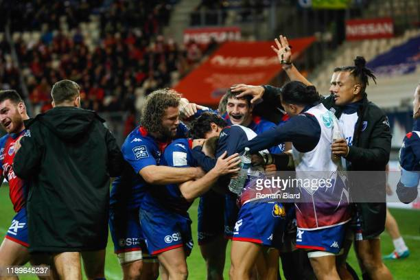 Nathanael HULLEU of Grenoble during the Pro D2 match between Grenoble and Oyonnax at Stade des Alpes on December 19, 2019 in Grenoble, France.