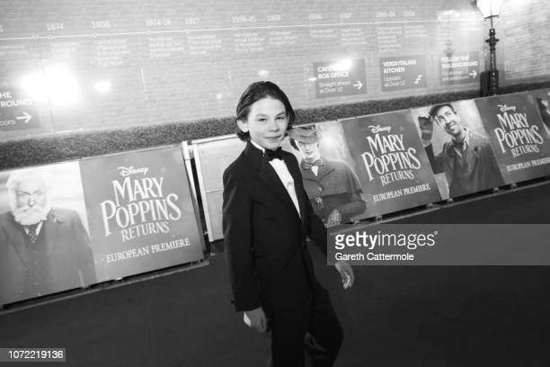 Nathanael Saleh attends the European Premiere of Mary Poppins Returns at Royal Albert Hall on December 12 2018 in London England