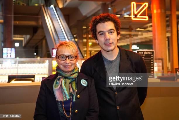 Nathanaël Karmitz CEO of MK2 and stylist Rosalie Varda are seen on October 21 2020 in Paris France Cinema MK2 Bibliotheque decides to offer breakfast...
