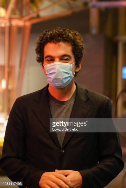 Nathanaël Karmitz CEO of MK2 is seen on October 21 2020 in Paris France Cinema MK2 Bibliotheque decides to offer breakfast to customers at 8 am to...
