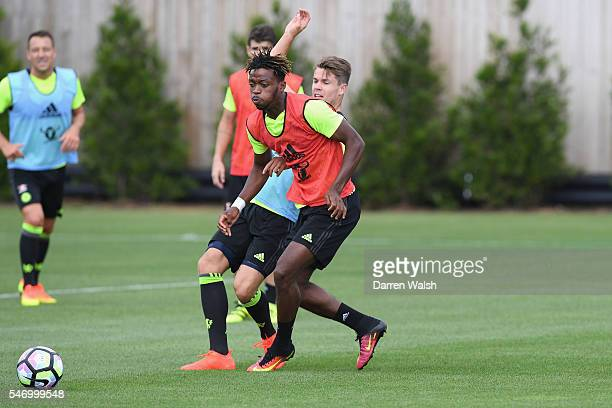 Nathaniel Chalobah Marco van Ginkel at Chelsea Training Ground on July 13 2016 in Cobham England