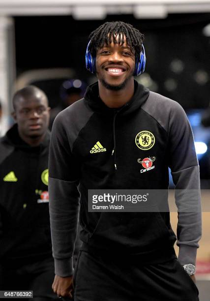 Nathaniel Chalobah of Chelsea arrives prior to the Premier League match between West Ham United and Chelsea at London Stadium on March 6 2017 in...