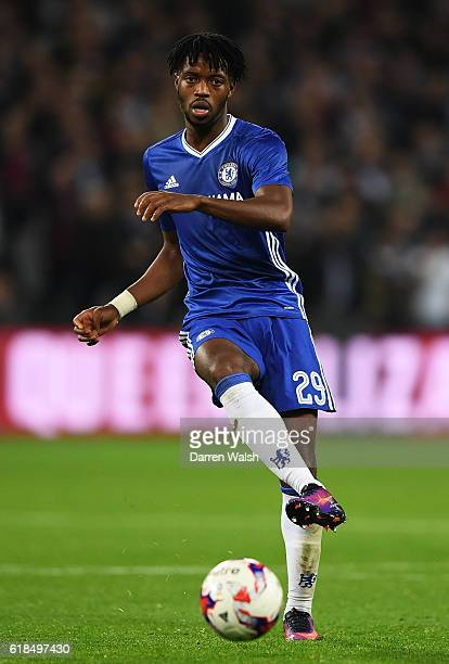 Nathaniel Chalobah of Chelsea during the EFL Cup fourth round match between West Ham United and Chelsea at The London Stadium on October 26 2016 in...
