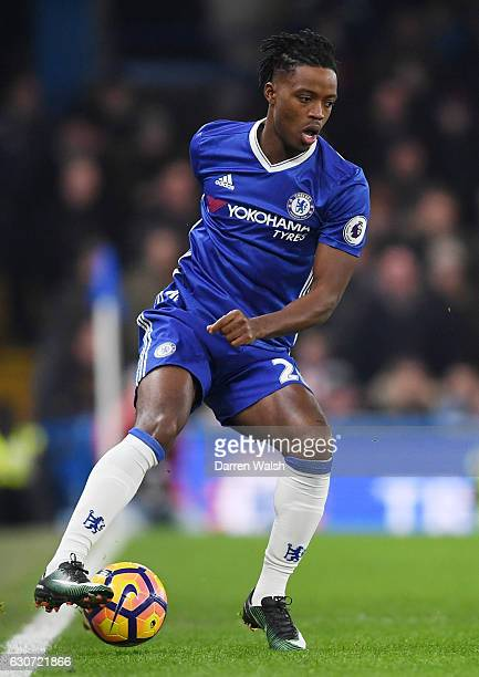 Nathaniel Chalobah of Chelsea in action during the Premier League match between Chelsea and Stoke City at Stamford Bridge on December 31 2016 in...