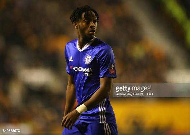 Nathaniel Chalobah of Chelsea looks on during the Emirates FA Cup Fifth Round match between Wolverhampton Wanderers and Chelsea at Molineux on...