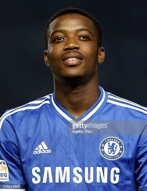 Nathaniel Chalobah of Chelsea poses prior to the kickoff of the match between Chelsea and Indonesia AllStars at Gelora Bung Karno Stadium on July 25...
