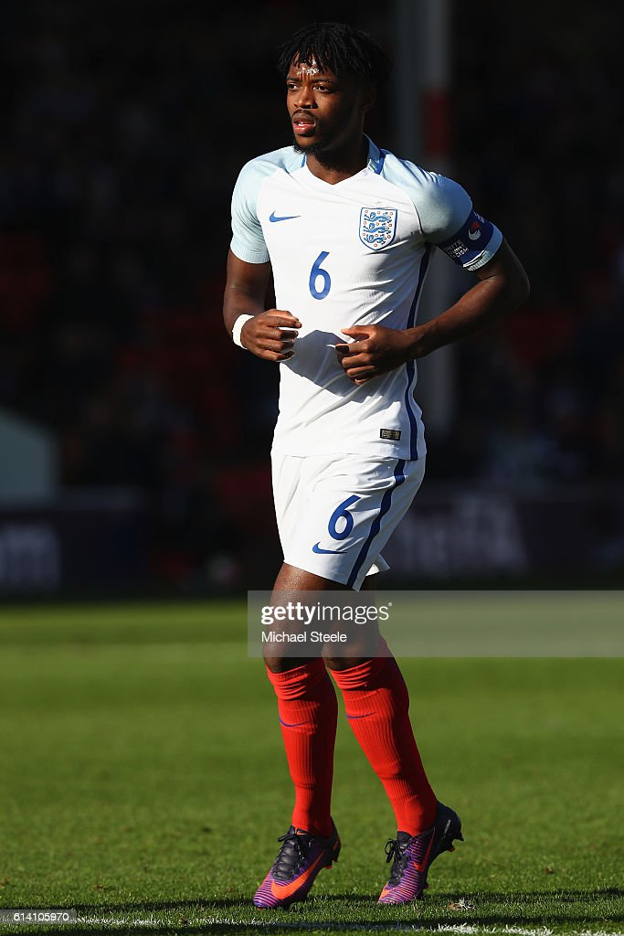 Nathaniel Chalobah of England during the UEFA European U21 Championship Group 9 match between England and Bosnia Herzegovina at Banks' Stadium on October 11, 2016 in Walsall, England.
