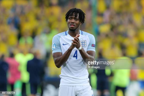 Nathaniel Chalobah of England gestures during the UEFA European Under21 Championship match between Sweden and England at Arena Kielce on June 16 2017...