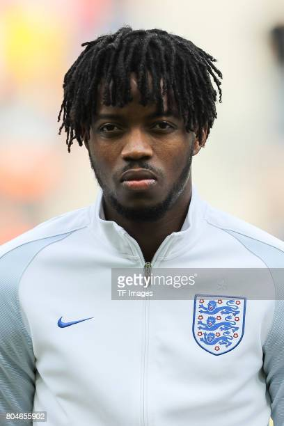 Nathaniel Chalobah of England looks on during the UEFA European Under21 Championship Semi Final match between England and Germany at Tychy Stadium on...