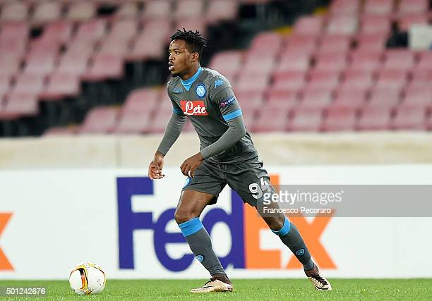 Nathaniel Chalobah of Napoli in action during the UEFA Europa League Group D match between SSC Napoli and Legia Warszawa on December 10 2015 in...