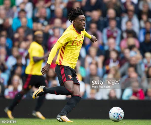 Nathaniel Chalobah of Watford during the pre season friendly match between Aston Villa and Watford at Villa Park on July 29 2017 in Birmingham England