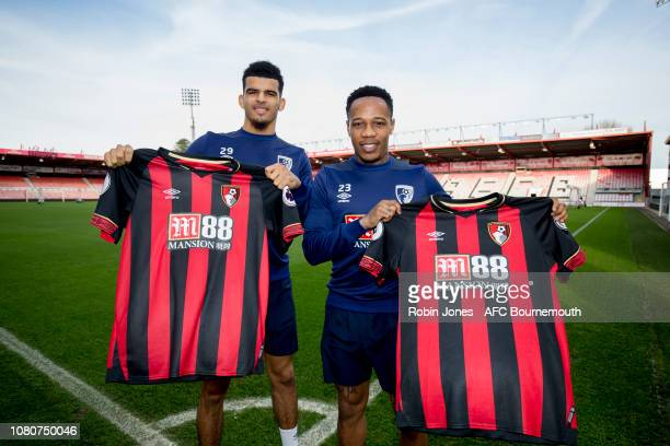 Nathaniel Clyne and Nathaniel Clyne of Bournemouth following a joint press conference at Vitality Stadium on January 11 2019 in Bournemouth England