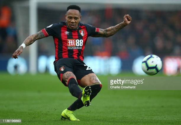 Nathaniel Clyne of AFC Bournemouth passes the ball during the Premier League match between AFC Bournemouth and Newcastle United at Vitality Stadium...