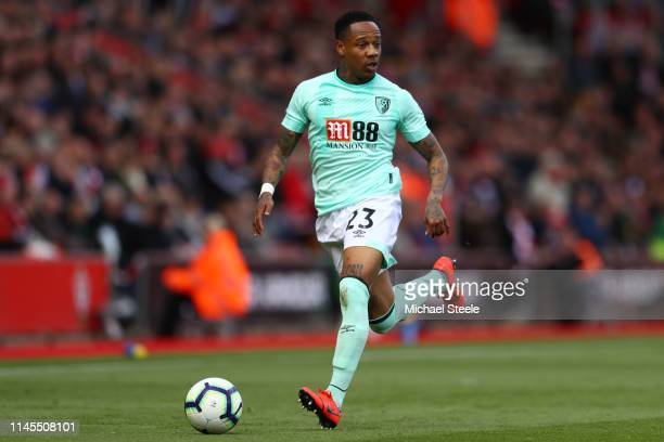 Nathaniel Clyne of Bournemouth during the Premier League match between Southampton FC and AFC Bournemouth at St Mary's Stadium on April 27, 2019 in...