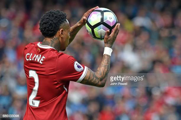 Nathaniel Clyne of Liverpoo during the Premier League match between Liverpool FC and Middlesbrough FC at Anfield on May 21 2017 in Liverpool England
