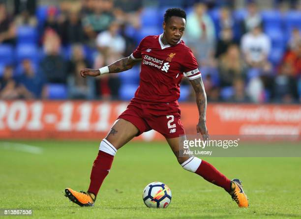 Nathaniel Clyne of Liverpool during a preseason friendly match between Tranmere Rovers and Liverpool at Prenton Park on July 12 2017 in Birkenhead...