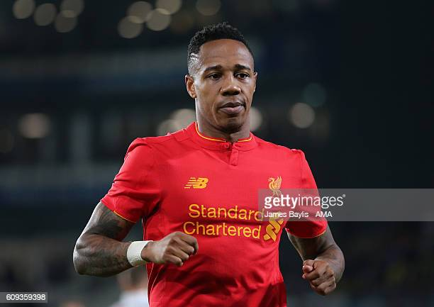 Nathaniel Clyne of Liverpool during the EFL Cup Third Round match between Derby County and Liverpool at iPro Stadium on September 20 2016 in Derby...