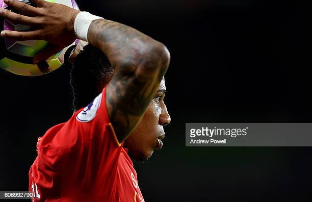 Nathaniel Clyne of Liverpool during the Premier League match between Chelsea and Liverpool at Stamford Bridge on September 16 2016 in London England