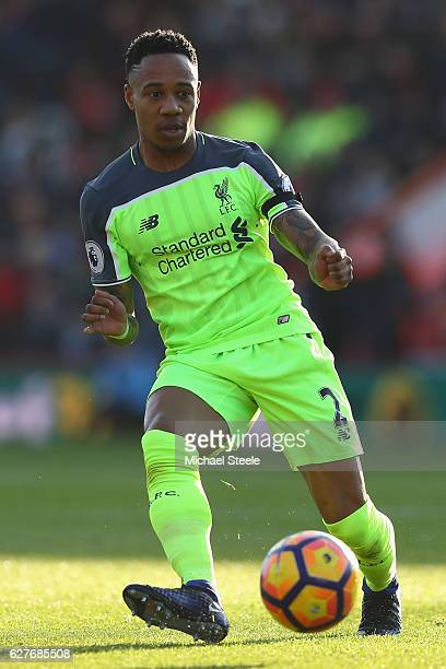 Nathaniel Clyne of Liverpool during the Premier League match between AFC Bournemouth and Liverpool at the Vitality Stadium on December 4 2016 in...