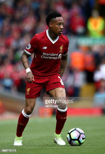 Nathaniel Clyne of Liverpool during the Premier League match between Liverpool and Middlesbrough at Anfield on May 21 2017 in Liverpool England
