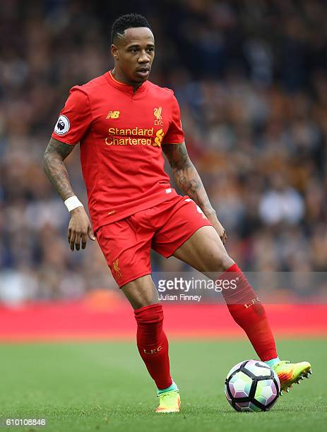 Nathaniel Clyne of Liverpool in action during the Premier League match between Liverpool and Hull City at Anfield on September 24 2016 in Liverpool...