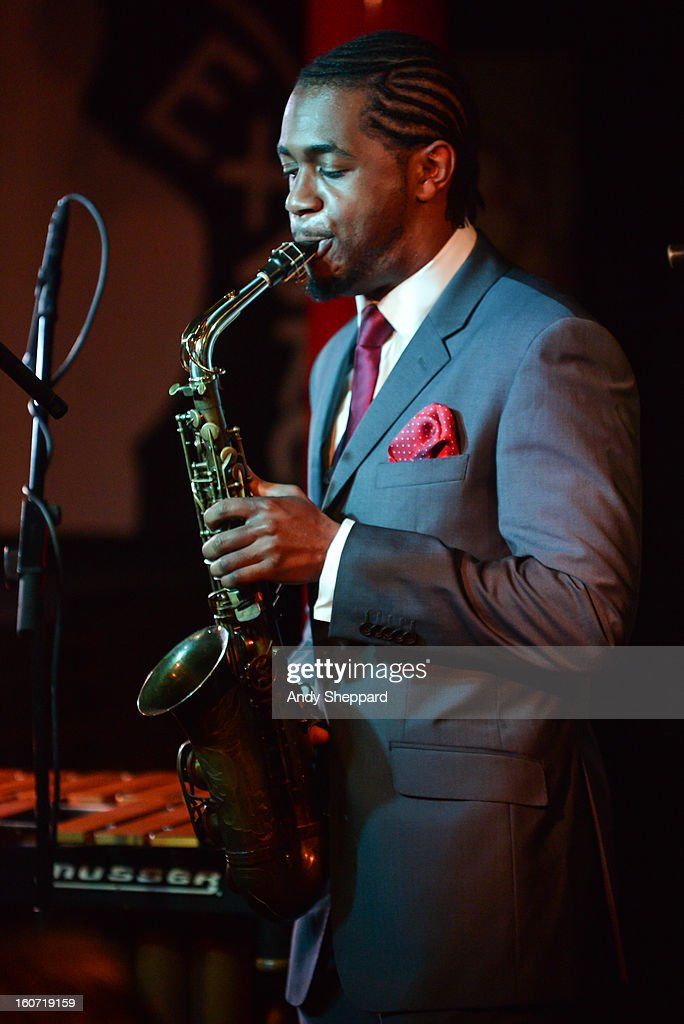 Nathaniel Facey of the band Empirical performs on stage at Pizza Express Jazz Club on February 4, 2013 in London, England.