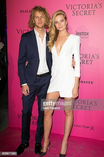 Nathaniel Hoho and Bridget Malcolm attend '2016 Victoria's Secret Fashion Show' after show photocall at Le Grand Palais on November 30 2016 in Paris...