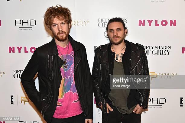 Nathaniel Hoho and Jesse Kotansky of the band Walking Shapes attend E Fashion Police and NYLON kickoff New York Fashion Week with a 50 Shades of...