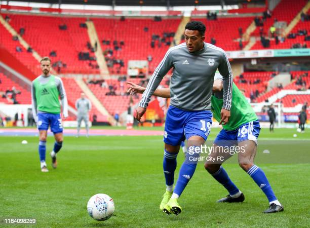 Nathaniel MendezLaing of Cardiff City FC before the Sky Bet Championship match between Charlton Athletic and Cardiff City at The Valley on November...