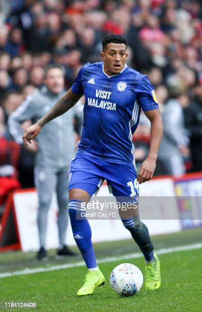 Nathaniel MendezLaing of Cardiff City FC during the Sky Bet Championship match between Charlton Athletic and Cardiff City at The Valley on November...