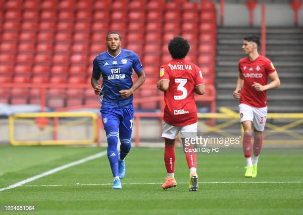 Nathaniel MendezLaing of Cardiff City FC during the Sky Bet Championship match between Bristol City and Cardiff City at Ashton Gate on July 4 2020 in...