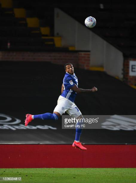 Nathaniel MendezLaing of Cardiff City FC during the Sky Bet Championship match between Fulham and Cardiff City at Craven Cottage on July 10 2020 in...