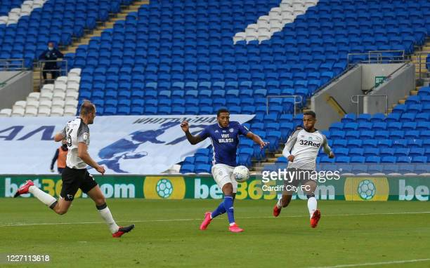 Nathaniel MendezLaing of Cardiff City FC during the Sky Bet Championship match between Cardiff City and Derby County at Cardiff City Stadium on July...