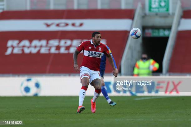 Nathaniel Mendez-Laing of Middlesbrough during the Sky Bet Championship match between Middlesbrough and Cardiff City at the Riverside Stadium,...