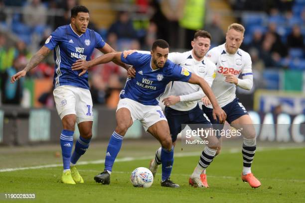 Nathaniel MendezLaingTom ClarkeAlan Browne during the Sky Bet Championship match between Cardiff City and Preston North End at Cardiff City Stadium...