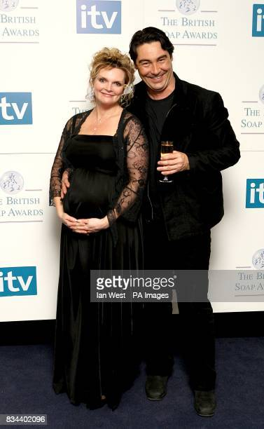 Nathaniel Parker and Sharon Small at the British Soap Awards 2008 at BBC Television Centre Wood Lane London W12