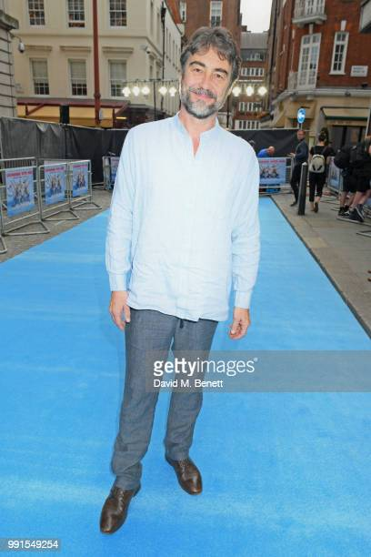 """Nathaniel Parker attends the UK Premiere of """"Swimming With Men' at The Curzon Mayfair on July 4, 2018 in London, England."""