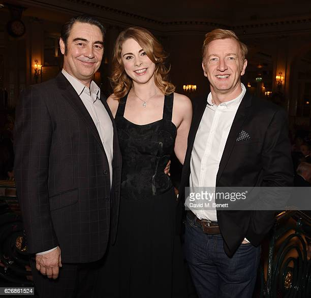 Nathaniel Parker Lauren O'Neil and Steffan Rhodri attend the press night after party of 'This House' at The Waldorf Hilton Hotel on November 30 2016...
