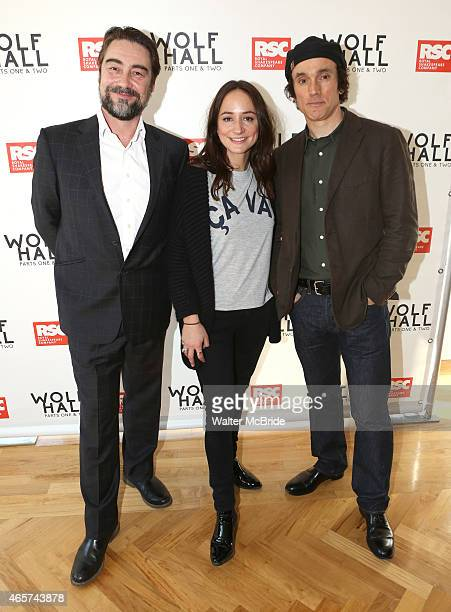 Nathaniel Parker, Lydia Leonard and Ben Miles, from the cast of the Royal Shakespeare Company's 'Wolf Hall' Parts One & Two, attend a meet the press...